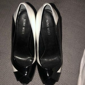 Nine West Shoes - Black and White Heels